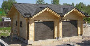 Строительство гаражей из бруса в Москве под ключ